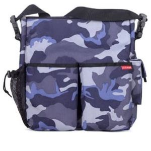Skip Hop Duo Canvas Diaper Bag - Blue Camo